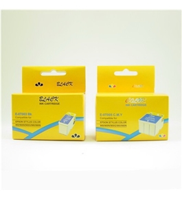 2 Pack Epson T003011 T005011 Compatible Ink Cartridges (1BK, 1CLR) T003 T005