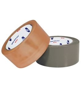 "2"" x 110 yds. Clear 2.2 Mil PVC Natural Rubber Tape (36 Per Case)"
