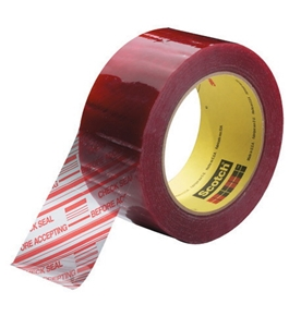 "2"" x 110 yds. Clear (6 Pack) 3M - 3779 Pre-Printed Carton Sealing Tape (6 Per Case)"