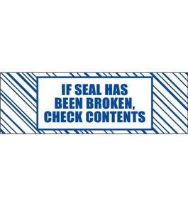 "2"" x 110 yds. ""If Seal Has Been..."" Print (6 Pack) Tape Logic™ Security Tape (6 Per Case)"