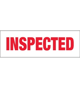 "2"" x 110 yds. - ""Inspected"" (18 Pack) Pre-Printed Carton Sealing Tape (18 Per Case)"