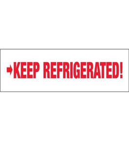 "2"" x 110 yds. - ""Keep Refrigerated"" (18 Pack) Pre-Printed Carton Sealing Tape (18 Per Case)"