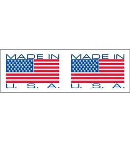 "2"" x 110 yds. - ""Made In USA"" (18 Pack) Pre-Printed Carton Sealing Tape (18 Per Case)"