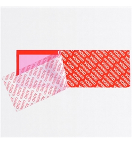 "2"" x 5 3/4"" Red Tape Logic™ Security Strips on a Roll (24 Per Case)"