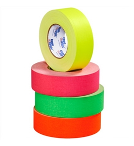 "2"" x 50 yds. Fluorescent Yellow 11 Mil Gaffers Tape (24 Per Case)"