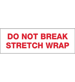 "2"" x 55 yds. - ""Do Not Break Stretch Wrap"" (18 Pack) Tape Logic™ Pre-Printed Carton Sealing Tape (18 Per Case)"