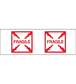 "2"" x 55 yds. - ""Fragile (Box)"" (6 Pack) Tape Logic™ Pre-Printed Carton Sealing Tape (6 Per Case)"