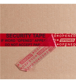 "2"" x 9"" Red Tape Logic™ Secure Tape Strips (100 Per Case)"