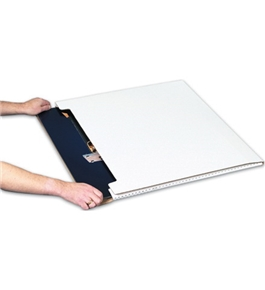 "20"" x 16"" x 1"" White Jumbo Fold-Over Mailers (20 Each Per Bundle)"