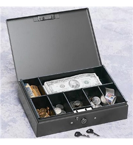 MMF 7-Compartment Low Profile Steel Cash Box