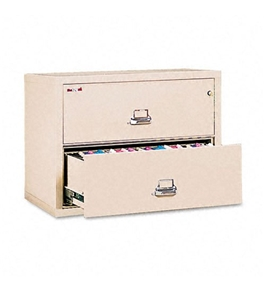 FireKing 23822CPA 37-1/2-Inch by 22-1/8-Inch Insulated 2-Drawer Lateral Letter/Legal File, Parchment