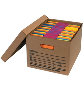 "24"" x 15"" x 10"" Economy File Storage Boxes (12 Each Per Case)"