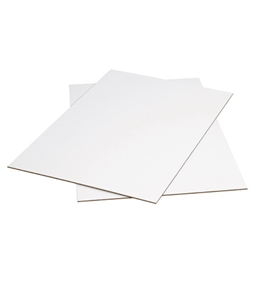 "24"" x 36"" White Corrugated Sheets (5 Each Per Bundle)"