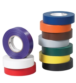 "3/4"" x 20 yds. White (10 Pack) Electrical Tape (10 Per Case)"