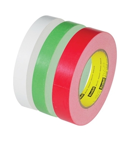 "3/4"" x 60 yds. White 3M - 256 Flatback Tape (48 Per Case)"