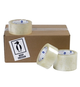 "3"" x 110 yds. Clear 6151QT 1.7 Mil Cold Temp Tape (24 Per Case)"