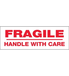 "3"" x 110 yds. - ""Fragile Handle With Care"" (6 Pack) Tape Logic™ Pre-Printed Carton Sealing Tape (6 Per Case)"