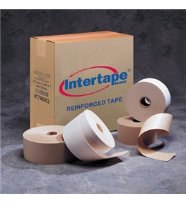 "3"" x 375' Kraft Intertape - Carton Master Reinforced Tape (8 Per Case)"