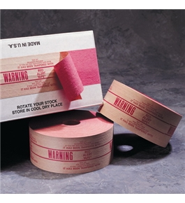 "3"" x 450' - ""Warning"" Central - 240 Pre-Printed Reinforced Tape (10 Per Case)"