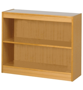 "30"" H Square-Edge Bookcase Finish: Light Oak"