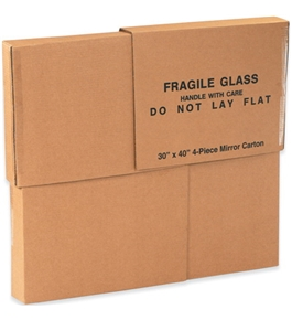 "30"" x 40"" x 3 1/2"" 1 Piece of 30"" x 40"" 4-Piece Mirror Boxes (4 Each Per Bundle)"