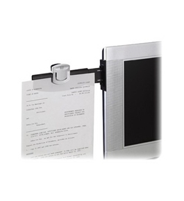 "3M Monitor Mount Document Clip, 6-1/4""X3"", Black/Silver"