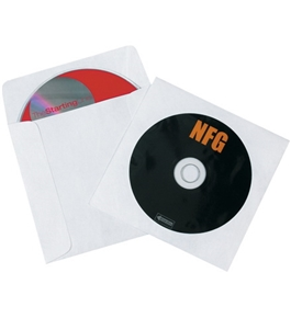 "4 7/8"" x 5"" Tyvek® Windowed CD Sleeves (500 Per Case)"