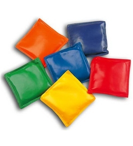 "4"" Assorted Colors Bean Bags, pack of 12"