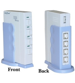 4 PC to 1 USB 2.0 Device ABCD Switch Box (Printer, Scanner, etc...)