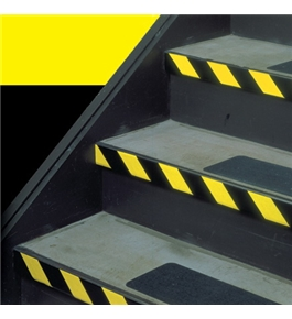 "4"" x 36 yds. Black/Yellow Striped Vinyl Safety Tape (12 Per Case)"