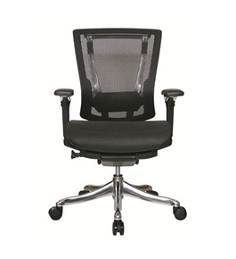 Nefil 4200MEBLK Office Chair in Black Mesh and Aluminum Frame