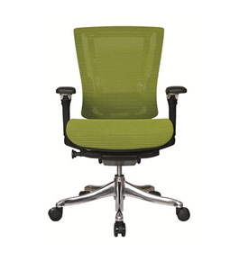 Nefil 4300MEGRN3D Office Chair in 3D Green Mesh and Aluminum Frame