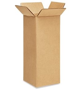 "4"" x 4"" x 10"" Tall Corrugated Boxes (Bundle of 25)"