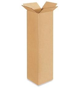 "4"" x 4"" x 16"" Corrugated Boxes (Bundle of 25)"