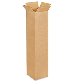 "4"" x 4"" x 18"" Tall Corrugated Boxes (Bundle of 25)"