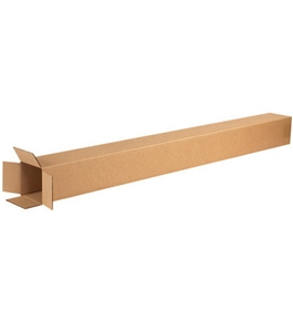 "4"" x 4"" x 48"" Tall Corrugated Boxes (Bundle of 25)"