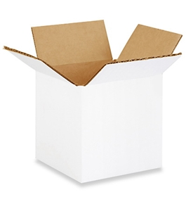 "4"" x 4"" x 4"" White Corrugated Boxes (Bundle of 25)"