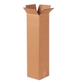 "4"" x 4"" x 60"" Tall Corrugated Boxes (Bundle of 25)"