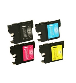 4PK NON-OEM LC61 Set For Brother LC61BK LC61C LC61M LC61Y Ink Cartridge For DCP-165C DCP-385C DCP-585C
