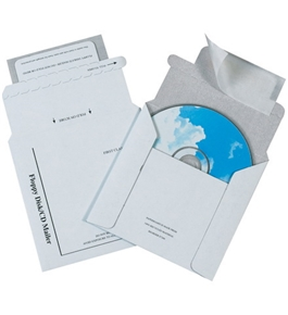 "5 1/8"" x 5"" Foam Lined CD Mailers (100 Per Case)"