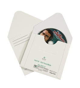 "5 1/8"" x 5"" White Fibreboard CD Mailers (100 Per Case)"
