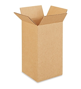 "5"" x 5"" x 10"" Tall Corrugated Boxes (Bundle of 25)"