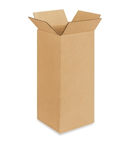 "5"" x 5"" x 12"" Corrugated Boxes (Bundle of 25)"