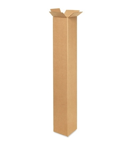 "5"" x 5"" x 36"" Tall Corrugated Boxes (Bundle of 25)"