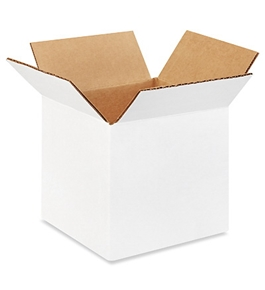 "5"" x 5"" x 5"" White Corrugated Boxes (Bundle of 25)"