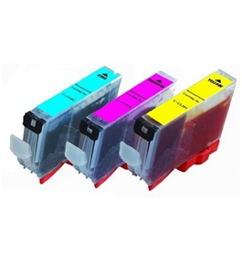 6-Pack Non-OEM Ink w/ Chip for CLI-221 Canon Pixma Canon iP3600 iP4600 iP4700 MP560 MP620 MP640 MX860