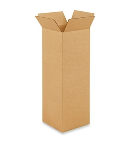 "6"" x 6"" x 18"" Tall Corrugated Boxes (Bundle of 25)"