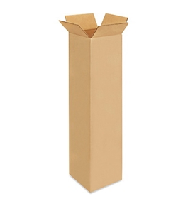 "6"" x 6"" x 24"" Tall Corrugated Boxes (Bundle of 25)"