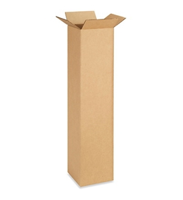 "6"" x 6"" x 30"" Tall Corrugated Boxes (Bundle of 25)"