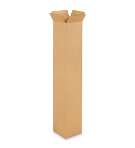 "6"" x 6"" x 36"" Tall Corrugated Boxes (Bundle of 25)"